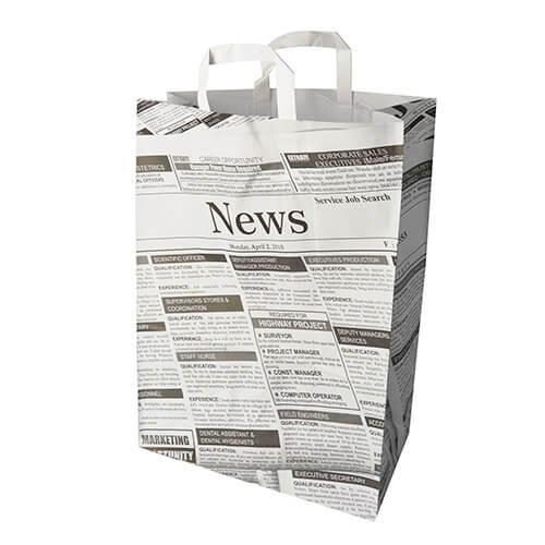 """Tragetaschen, Papier 44 cm x 32 cm x 17 cm """"Newsprint"""" mit Tragegriff"""
