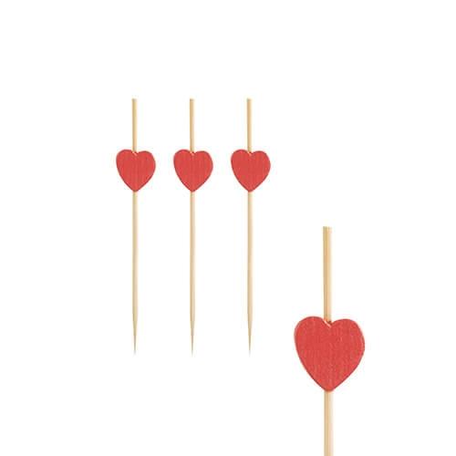 "Fingerfood - Spieße 7 cm ""Heart"""