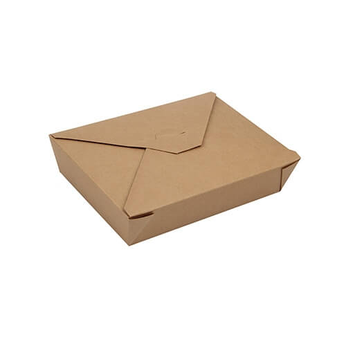 """3 x 50 Lunchboxen, Pappe """"pure"""" 1500 ml 4,8 cm x 14 cm x 19,7 cm braun"""
