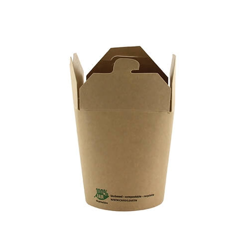 "20 x 25 Snackboxen, Pappe ""pure"" eckig 230 ml 7,5 cm x 6,5 cm x 5,8 cm braun ""100% Fair"""
