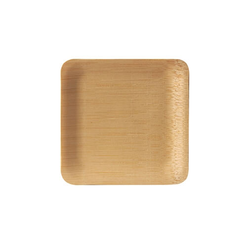 "25 x 10 Fingerfood - Teller, Bambus ""pure"" eckig 1,5 cm x 8,5 cm x 8,5 cm"