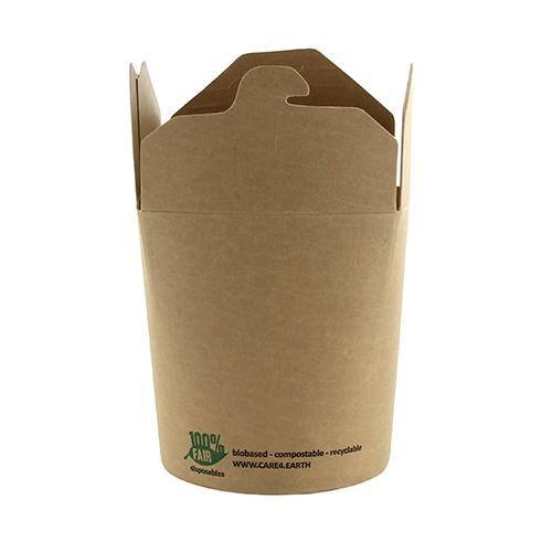 "20 x 25 Snackboxen, Pappe ""pure"" eckig 470 ml 9,8 cm x 8,2 cm x 7 cm braun ""100% Fair"""