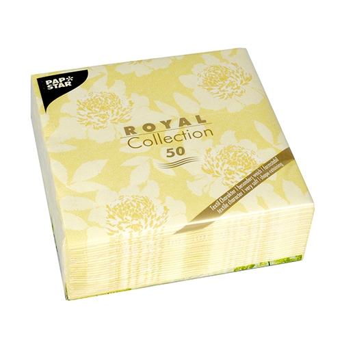 """Servietten """"ROYAL Collection"""" 1/4-Falz 40 cm x 40 cm gelb """"Adele"""""""