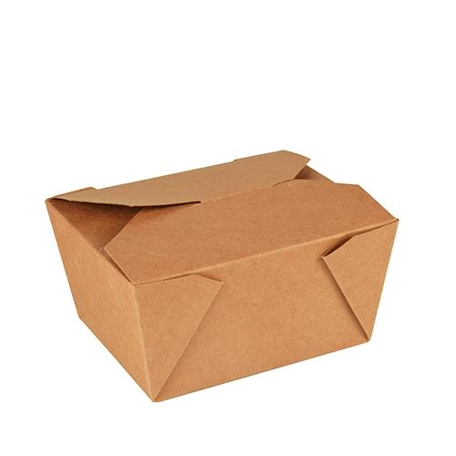 """10 x 50 Lunchboxen, Pappe """"pure"""" 750 ml 6,3 cm x 9 cm x 11,3 cm braun"""
