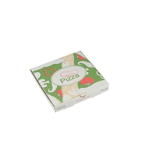 """1 x 100 Pizzakartons, Cellulose """"pure"""" eckig 20 cm x 20 cm x 3 cm"""