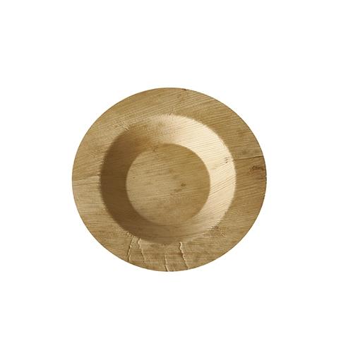 """10 x 50 Fingerfood - Teller, Bambus """"pure"""" rund Ø 9 cm · 1,3 cm"""