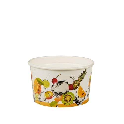"""6 x 100 Eisbecher, Pappe """"pure"""" rund 125 ml Ø 7,8 cm · 4,9 cm """"Früchte"""""""