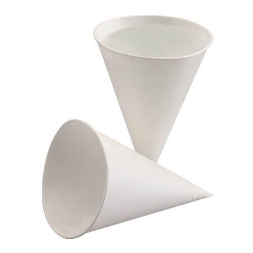 """Spitzbecher, Papier 115 ml Ø 7,2 cm · 9,5 cm weiss """"aqua"""""""