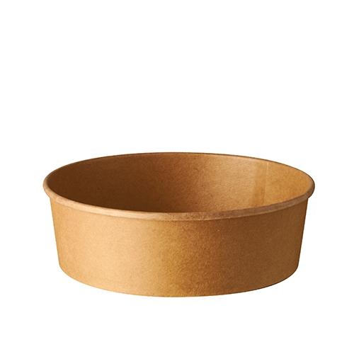 """6 x 50 Salatschalen, Pappe """"pure"""" rund 500 ml Ø 15 cm · 4,6 cm braun"""