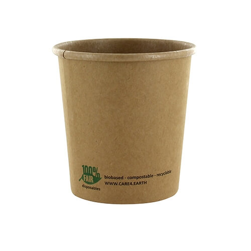 "20 x 25 Suppenbecher, Pappe ""pure"" rund 470 ml Ø 9,8 cm · 10 cm braun ""100% Fair"""