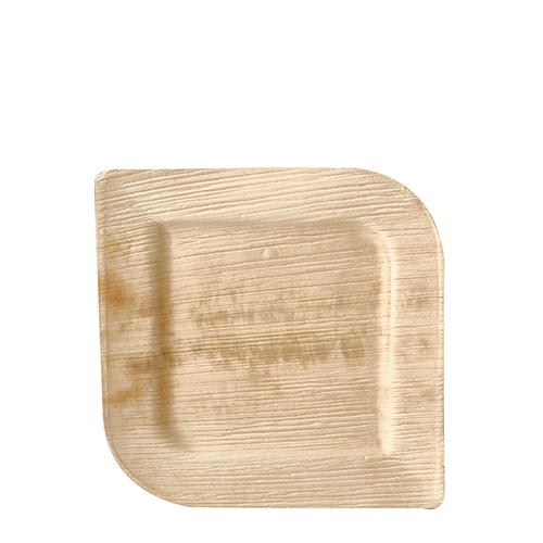 "4 x 25 Teller, Palmblatt ""pure"" eckig 20 cm x 20 cm x 1,5 cm"