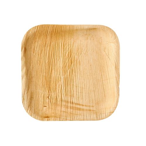 "10 x 6 Teller, Palmblatt ""pure"" eckig 18 cm x 18 cm x 1,5 cm"
