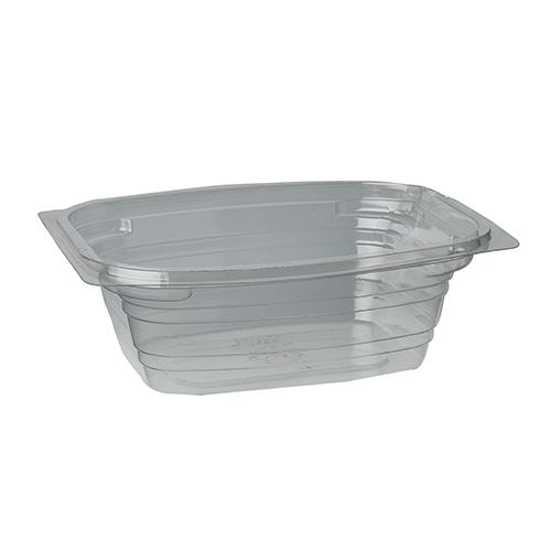 "12 * 50 Verpackungsbecher, PLA ""pure"" eckig 350 ml 5 cm x 12,5 cm x 15 cm transparent"