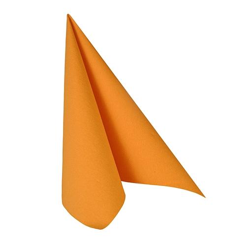 """12 x 20 Servietten """"ROYAL Collection"""" 1/4-Falz 33 cm x 33 cm orange"""