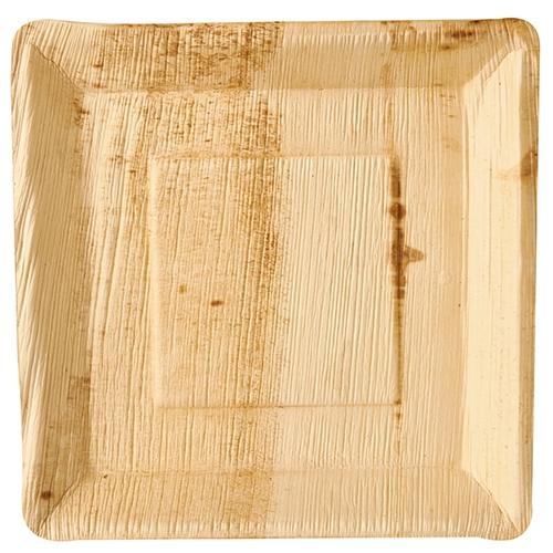 "4 x 25 Teller, Palmblatt ""pure"" eckig 25 cm x 25 cm x 2,5 cm"