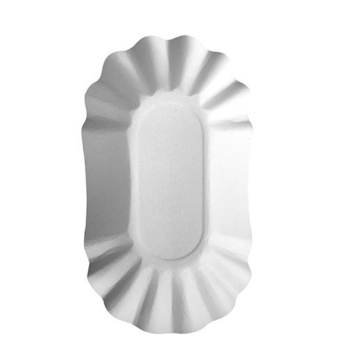 "6 x 250 Schalen, Pappe ""pure"" oval 10,5 cm x 17,5 cm x 3 cm weiss"
