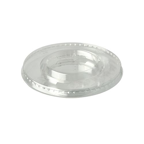 """20 x 100 Deckel, PLA """"pure"""" rund Ø 9,5 cm glasklar mit Kreuzschlitz"""