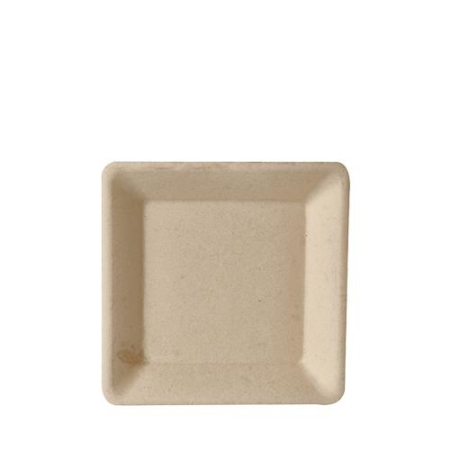 """10 x 50 Teller, Zuckerrohr """"pure"""" eckig 15,5 cm x 15,5 cm natur"""