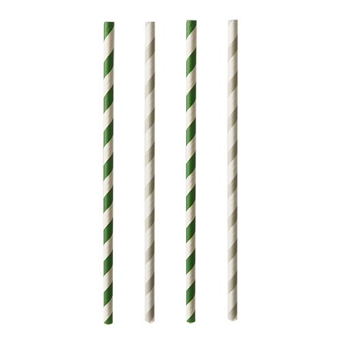 "20 x 25 Trinkhalme, Papier ""pure"" Ø 6 mm · 20 cm farbig sortiert ""Stripes"""