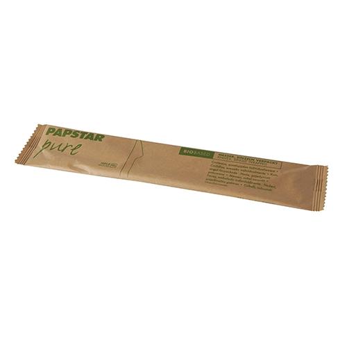 "10 x 50 Messer, Holz ""pure"" 16,5 cm einzeln verpackt in Papierbeutel"