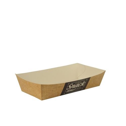 "12 x 50 Pommes-Frites-Trays ""pure"" 3,5 cm x 7 cm x 15 cm ""Good Food"" groß"