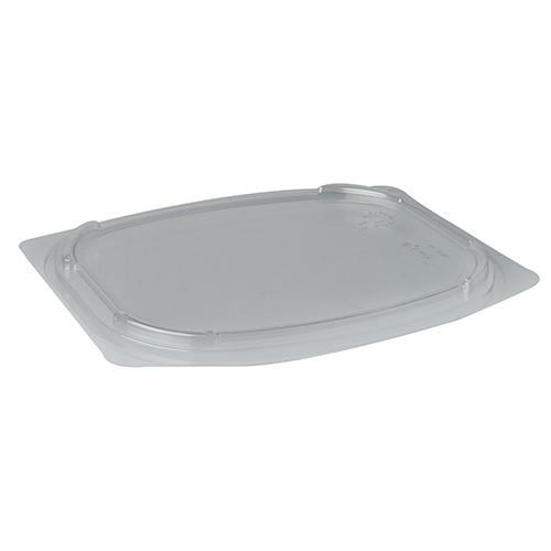 """12 * 25 Deckel für Verpackungsbecher, PLA """"pure"""" eckig 1 cm x 16,5 cm x 19 cm transparent"""