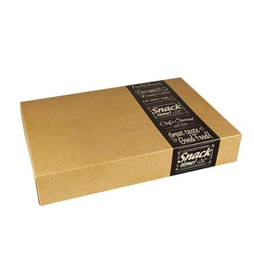 "5 * 10 Transport- und Catering-Kartons ""pure"" eckig 8 cm x 31,3 cm x 46,4 cm ""Good Food"" mittel"