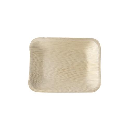 "4 x 25 Tabletts, Palmblatt ""pure"" eckig 16 cm x 12 cm x 2,5 cm"