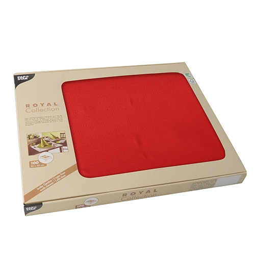 """6 x 100 Tischsets, Tissue """"ROYAL Collection"""" 30 cm x 40 cm rot"""
