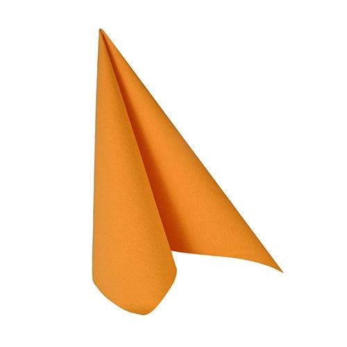 """14 x 20 Servietten """"ROYAL Collection"""" 1/4-Falz 25 cm x 25 cm orange"""