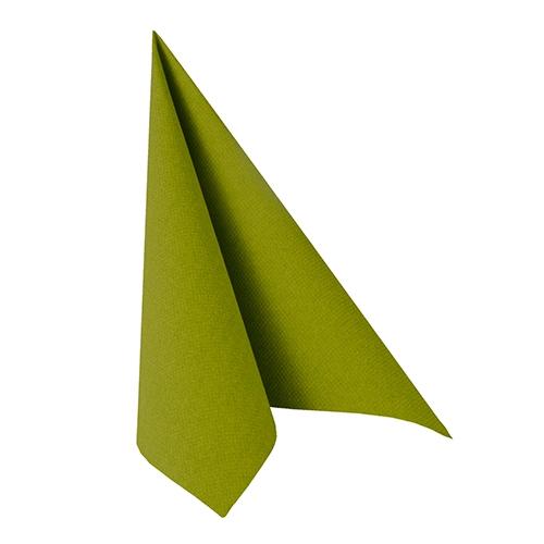 """12 x 20 Servietten """"ROYAL Collection"""" 1/4-Falz 33 cm x 33 cm olivgrün"""