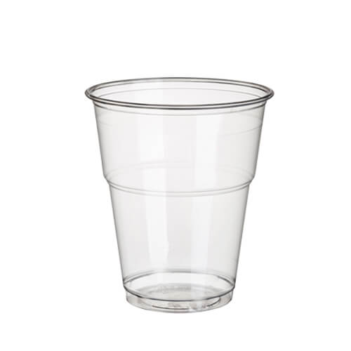 """Kaltgetränkebecher, PLA """"pure"""" 0,3 l Ø 9,5 cm · 11 cm glasklar mit Schaumrand"""