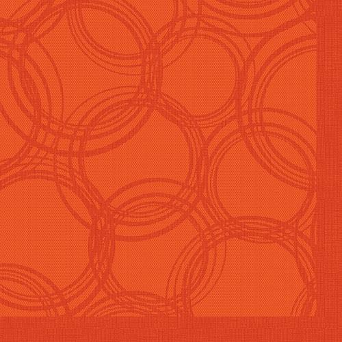 """Servietten """"ROYAL Collection"""" 1/4-Falz 40 cm x 40 cm nektarine """"Bubbles"""""""