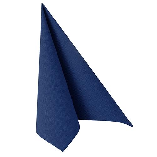 """5 x 50 Servietten """"ROYAL Collection"""" 1/4-Falz 40 cm x 40 cm dunkelblau"""