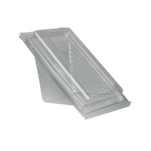 "10 x 50 Sandwichboxen mit Klappdeckeln, PLA ""pure"" eckig 7 cm x 10 cm x 17,8 cm transparent mittel"