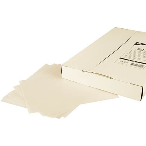 Blatt Sahneabdeckpapier 22 cm x 16 cm weiss