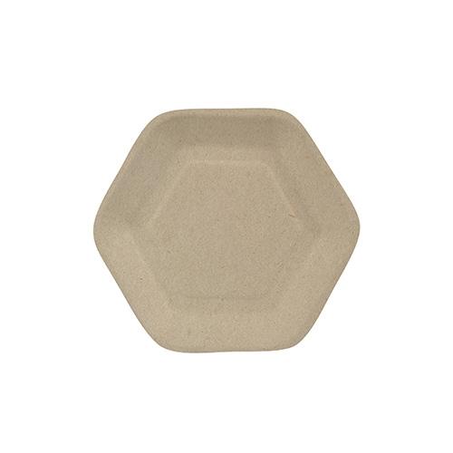 """10 x 50 Fingerfood - Teller, Zuckerrohr """"pure"""" 13 cm x 11,2 cm natur """"Hexagon"""""""