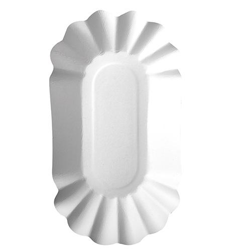 """4 * 250 Schalen, Pappe """"pure"""" oval 10,5 cm x 20 cm x 3,5 cm weiss"""