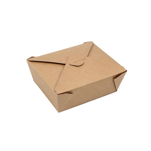 """3 * 50 Lunchboxen, Pappe """"pure"""" 1000 ml 5,5 cm x 13,5 cm x 16,8 cm braun"""