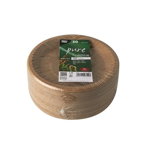 """8 x 50 Teller, Agrarreste """"pure"""" rund Ø 17,5 cm"""