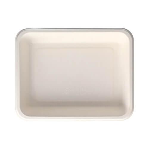 Siegelschalen, Zuckerrohr 4,5 cm x 17,5 cm x 22,5 cm weiss