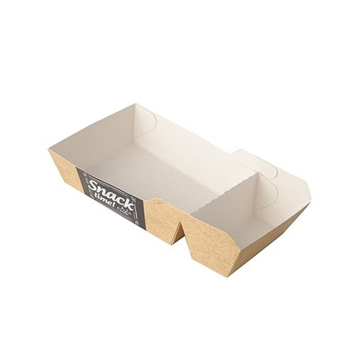 "12 x 50 Pommes-Frites-Trays ""pure"" 2-geteilt 3,5 cm x 7 cm x 14,5 cm ""Good Food"""