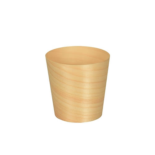 """10 x 50 Fingerfood - Schalen, Holz """"pure"""" rund Ø 6 cm · 6 cm"""