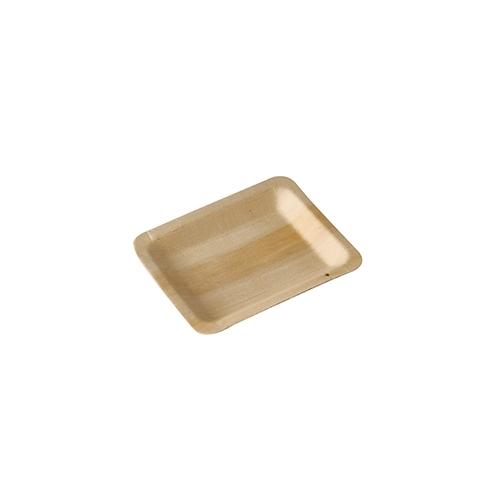 """10 x 50 Fingerfood - Teller, Holz """"pure"""" eckig 12 cm x 9,5 cm"""