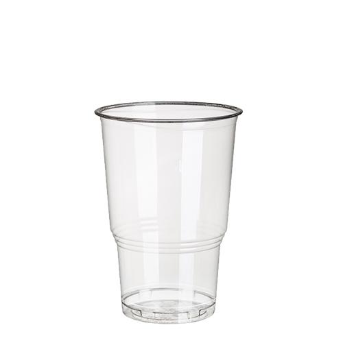 """30 x 70 Kaltgetränkebecher, PLA """"pure"""" 0,25 l Ø 7,8 cm · 11 cm glasklar mit Schaumrand"""