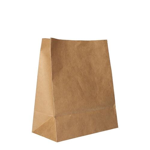 Blockbodenbeutel, Kraftpapier 22 cm x 18,5 cm x 9,7 cm braun