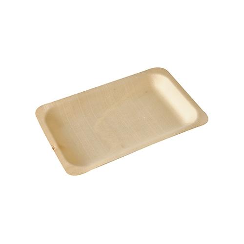 """10 * 50 Fingerfood - Teller, Holz """"pure"""" eckig 19,5 cm x 14 cm"""