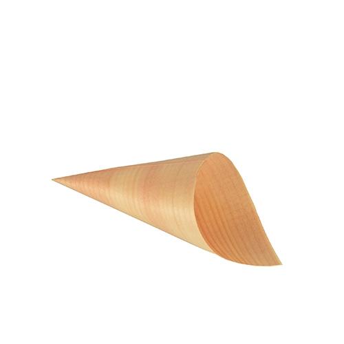 "10 x 50 Fingerfood - Spitztüten, Holz ""pure"" Ø 6,5 cm · 12,5 cm"