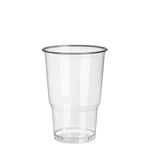 """Kaltgetränkebecher, PLA """"pure"""" 0,25 l Ø 7,8 cm · 11 cm glasklar mit Schaumrand"""