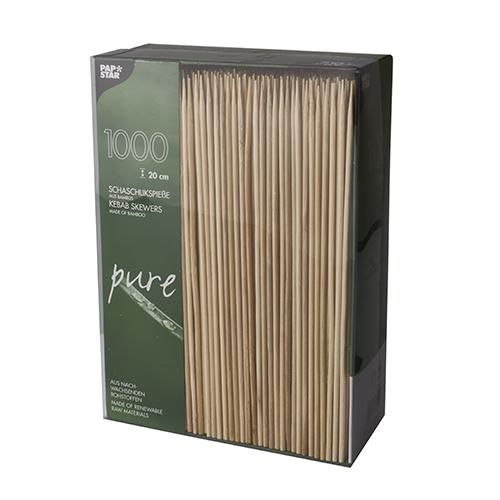 """6 x 1000 Schaschlikspieße, Bambus """"pure"""" Ø 3 mm · 20 cm"""